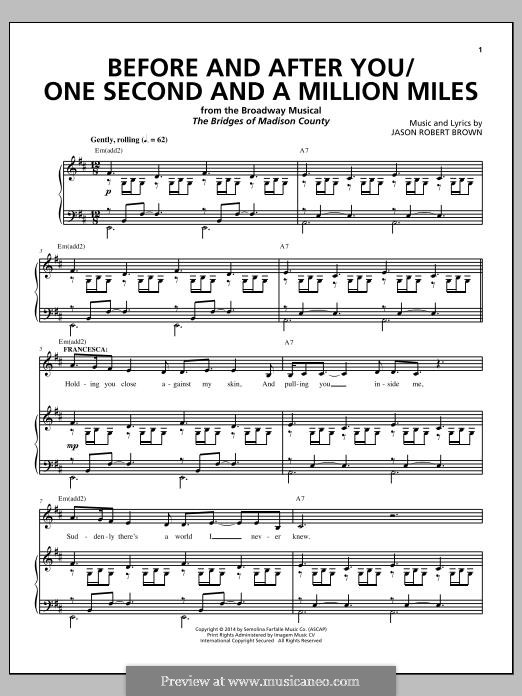 The Bridges of Madison County: Before and After You / One Second and a Million Miles by Jason Robert Brown