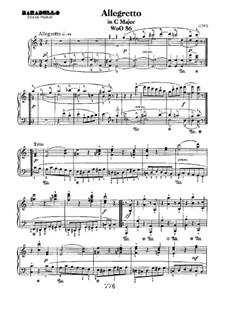 Allegretto in C Major, WoO 56: Para Piano by Ludwig van Beethoven