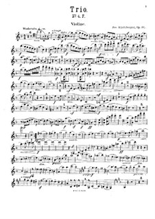 Piano Trio No.4 in F Major, Op.191: parte do violino by Josef Gabriel Rheinberger