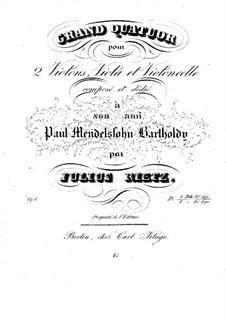 String Quartet in D Minor, Op.1: violino parte I by Julius Rietz