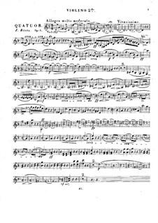 String Quartet in D Minor, Op.1: violino parte II by Julius Rietz