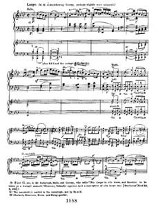 Concerto for Piano and Orchestra No.1, Op.15: Movimento II, para piano de quatro maõs by Ludwig van Beethoven
