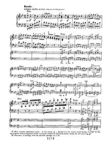 Concerto for Piano and Orchestra No.2, Op.19: Movimento III, para dois pianos de quatro mãos by Ludwig van Beethoven