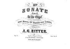Sonata for Organ No.3 in A Minor, Op.23: Sonata for Organ No.3 in A Minor by August Gottfried Ritter