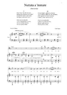 Nuttata a 'mmare: For baritone and piano by Eduardo di Capua