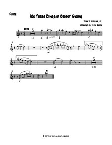 We Three Kings of Orient Swing: For easy woodwind quartet - flute part by John H. Hopkins Jr.