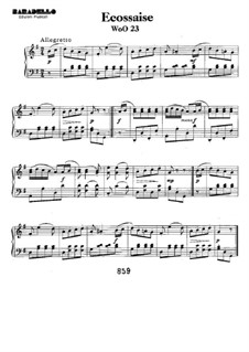 Écossaise in G Major, WoO 23: Para Piano by Ludwig van Beethoven