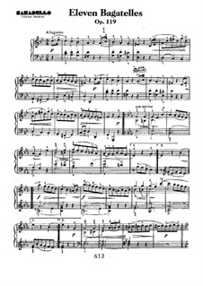 Eleven New Bagatelles for Piano, Op.119: set completo by Ludwig van Beethoven