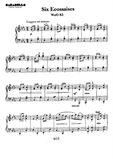 Écossaise in E Flat Major, WoO 83: Para Piano by Ludwig van Beethoven