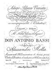 Adagio e Polacca Variata per violino solo con accompagnamento di orchestra, BI 483: Adagio e Polacca Variata per violino solo con accompagnamento di orchestra by Alessandro Rolla