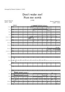 Nun me sceta...!: For tenor and symphony orchestra – score by Ernesto Tagliaferri