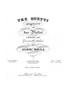 Three Duos for Two Violins, BI 208, 179, 118 Op.18: partes by Alessandro Rolla