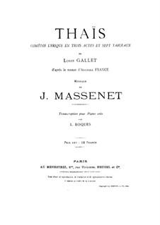 Opera: partitura para piano by Jules Massenet