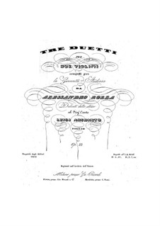 Three Duos for Two Violins, BI 226, 177, 205 Op.22: Três duetos para dois violinos by Alessandro Rolla