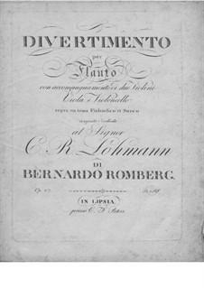 Divertissement on Finnish Theme, Op.27: Divertissement on Finnish Theme by Bernhard Romberg