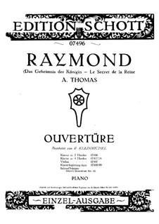 Overture to 'Raymond ou Le secret de la Reine9: Para Piano by Ambroise Thomas