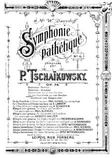 Complete Movements: para piano de quadro mãos by Pyotr Tchaikovsky