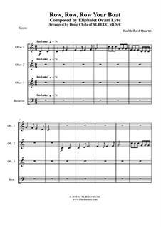 Row, Row, Row Your Boat: Para quarteto double reed by folklore