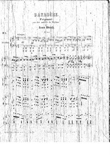 Potpourri on Themes from 'La Bayadère' by Minkus: Potpourri on Themes from 'La Bayadère' by Minkus by Johann Resch