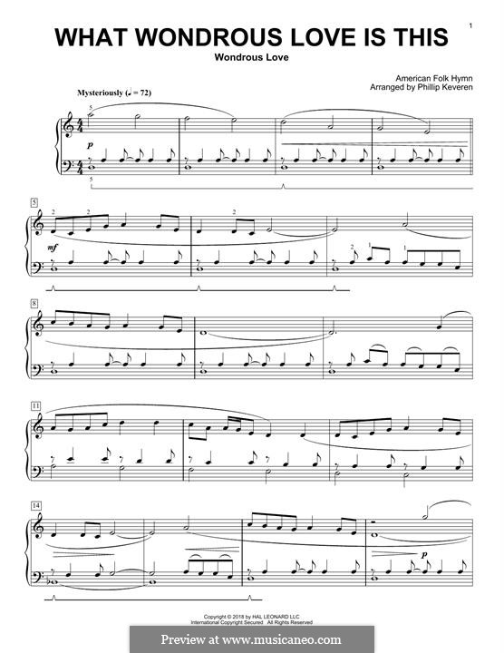What Wondrous Love Is This: Para Piano by folklore