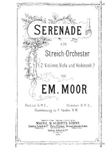 Serenade for String Orchestra, Op.16: Partitura completa by Emanuel Moór