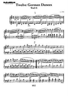 Twelve German Dances, WoO 8: Para Piano by Ludwig van Beethoven