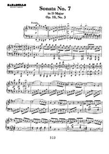Sonata for Piano No.7, Op.10 No.3: para um único musico (Editado por H. Bulow) by Ludwig van Beethoven