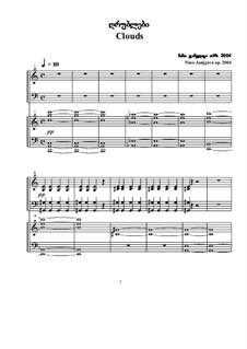 Clouds: dois pianos de quatro mãos, Op.2004 by Nino Janjgava
