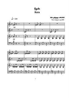 Rain: dois pianos de quatro mãos, Op.2005 by Nino Janjgava