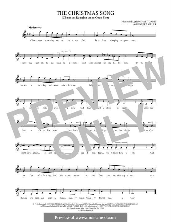 The Christmas Song (Chestnuts Roasting on an Open Fire): para duas flautas by Mel Tormé, Robert Wells