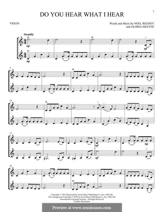 Do You Hear What I Hear: para dois violinos by Gloria Shayne, Noël Regney