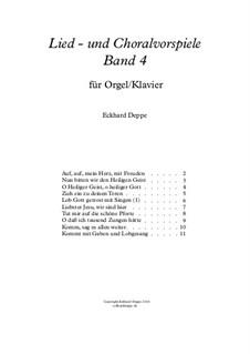Lied - und Choralvorspiele. Band 4: Vollständiger Satz by Eckhard Deppe