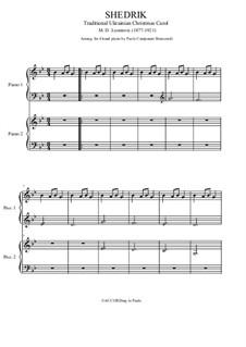 Carol of the Bells: para piano de quadro mãos by Mykola Leontovych
