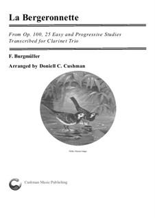 No.11 La Bergeronnette (The Sheperdess): For clarinet trio by Johann Friedrich Burgmüller