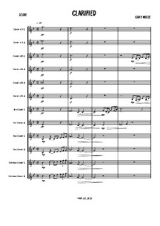 Clarifield Large Clarinet Ensemble: Clarifield Large Clarinet Ensemble by Gary Mosse