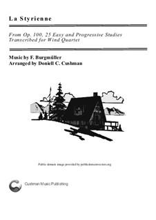 No.14 La Styrienne (Styrian Dance): Para quarteto de sopro by Johann Friedrich Burgmüller