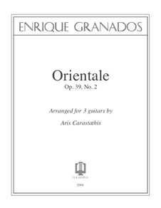 Twelve Spanish Dances: Dance No.2, for three guitars by Enrique Granados