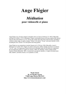 Méditation: For violoncello and piano by Ange Flégier