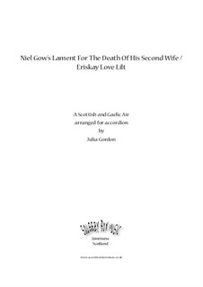 Niel Gow's Lament For The Death Of His Second Wife / Eriskay Love Lilt: Niel Gow's Lament For The Death Of His Second Wife / Eriskay Love Lilt by folklore