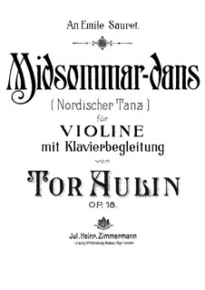 Midsommardans (Midsummer Dance), Op.18: Score by Tor Aulin