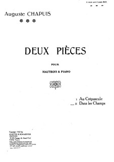 Dans le champs for Oboe and Piano: parte Solo by Auguste Chapuis