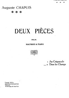 Dans le champs for Oboe and Piano: partitura by Auguste Chapuis