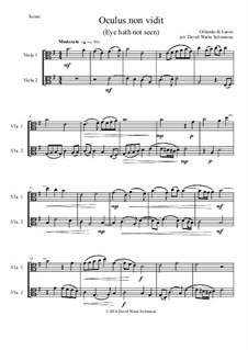 Oculus non vidit (Eye hath not seen): For 2 violas by Orlande de Lassus