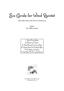 Six Carols: For wind quintet by folklore