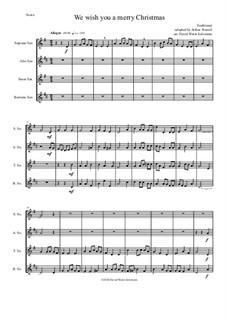 We Wish You a Merry Christmas: para quarteto de saxofone by folklore