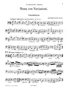 Theme and Variations for String Quartet, Op.32: parte violoncelo by Arthur Foote