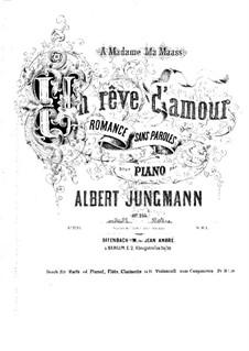 Un rêve d'amour, Op.255: Arrangement for flute, clarinet, cello, harp (or piano) by Albert Jungmann