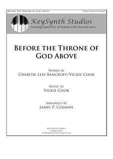 Before the Throne of God Above: Partitura Piano-vocal by Vickie Cook