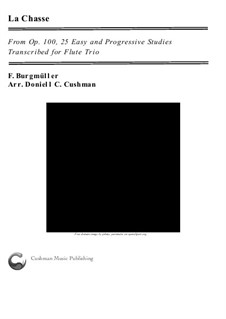 No.9 La Chasse: For flute trio by Johann Friedrich Burgmüller