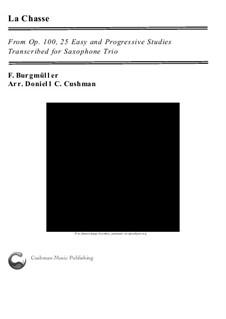 No.9 La Chasse: For saxophone trio by Johann Friedrich Burgmüller